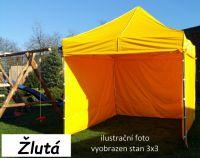 Namiot ogrodowy PROFI STEEL 3 x 4,5 - żółty
