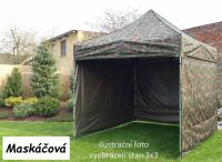 Namiot ogrodowy PROFI STEEL 3 x 4,5 - moro