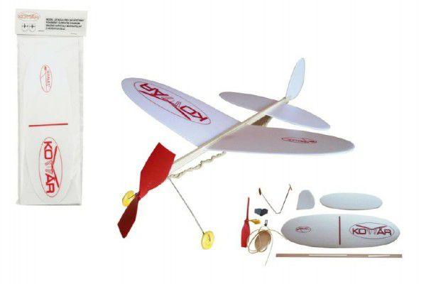 Model samolotu Komarna na gumkę-  38 x 31 cm