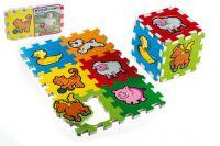 Puzzle z pianki - Moje pierwsze zwierzęta 15x15x1,2cm 6szt.