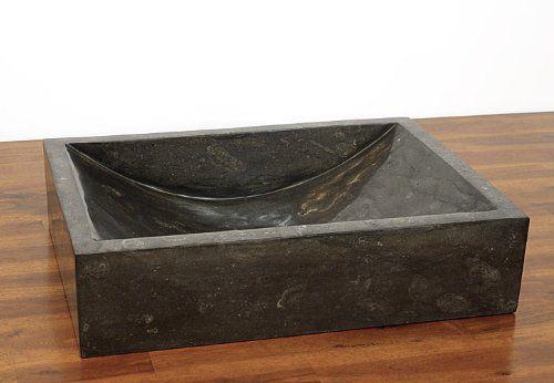 Umywalka z kamienia naturalnego Ornatus 308 Black