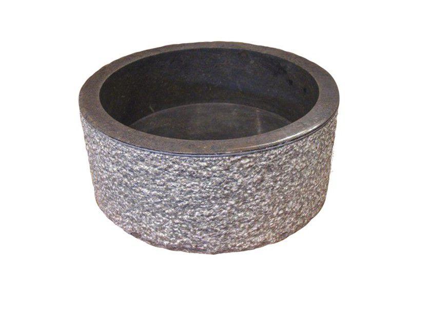 Umywalka z kamienia naturalnego MIRUM 509 Ø45 cm Black