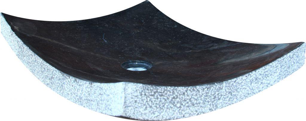 Umywalka z naturalnego kamienia Zen Black - kolor czarny