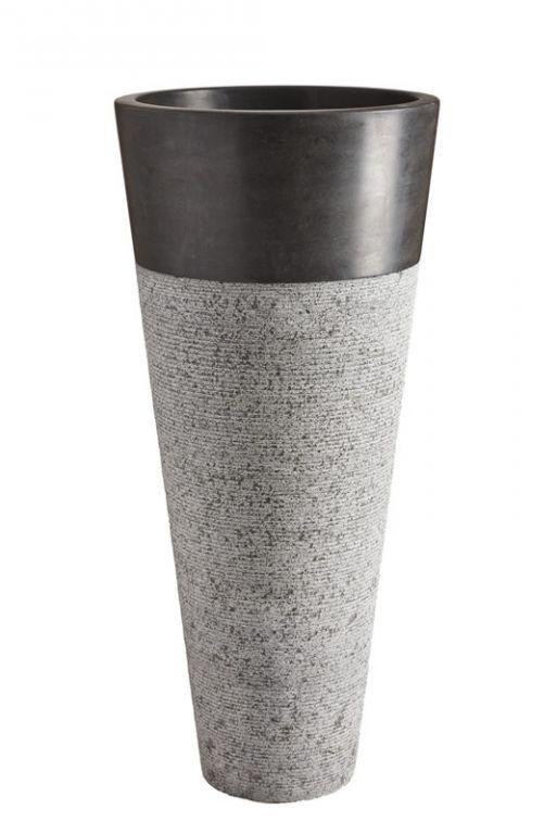 Wolnostojąca umywalka kamienna Pedestal Hammered Black
