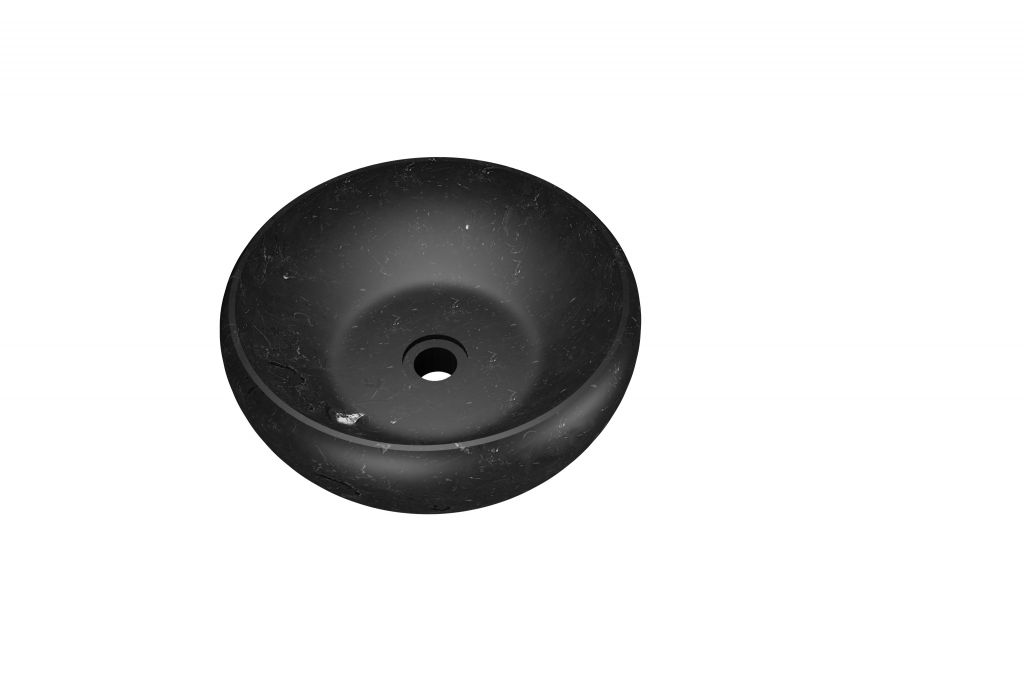 Umywalka z naturalnego kamienia Thetis Black - kolor czarny