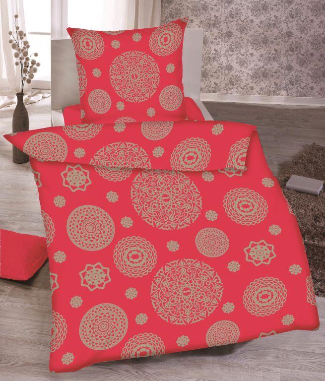 Pościel Mandala bordowa 100% bawełna