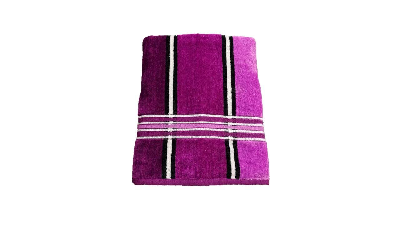 Ręcznik tęczowy - 50x100 fioletowy