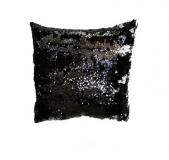 Poszewka z cekinami MAGIC 40 x 40 cm - czarny / błyszczący s
