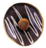 Poduszka Donut 3D - ciemny brąz