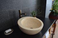 Kamienna umywalka wykonana z marmuru Hébé