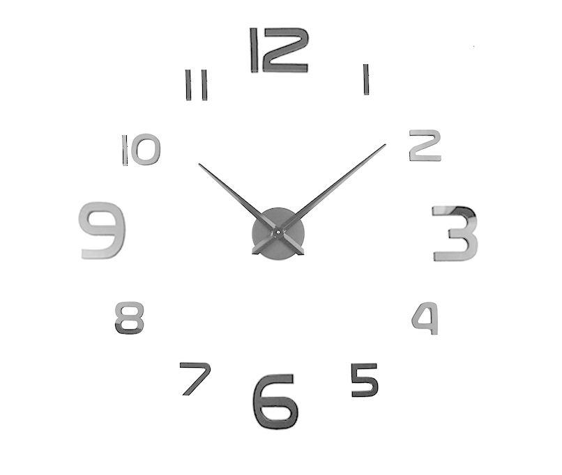 Samoprzylepny zegar ścienny Reno