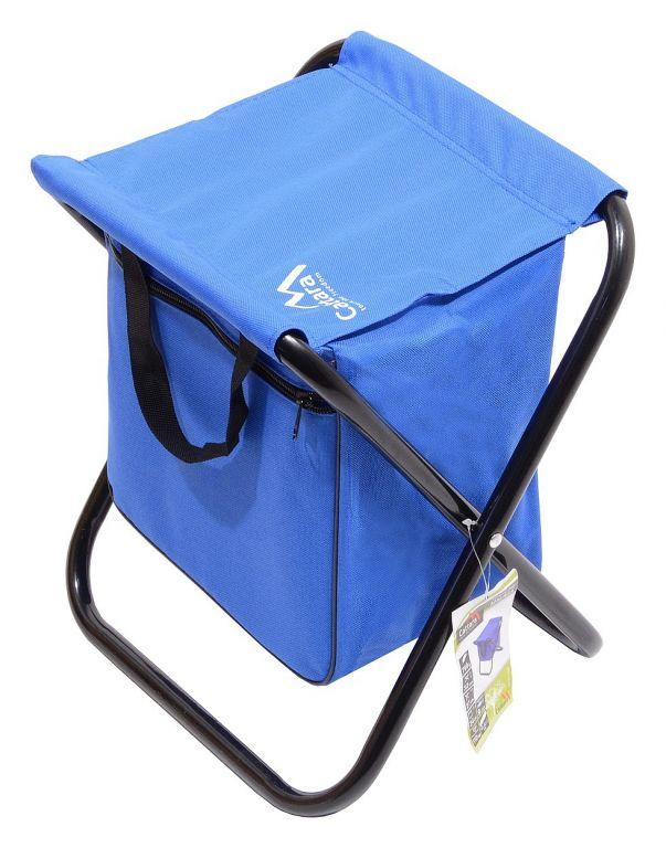 Campingowe krzesło składane MALAGA - niebieskie