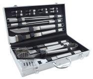 Zestaw narzędzi do grillowania w obudowie ALU 18szt