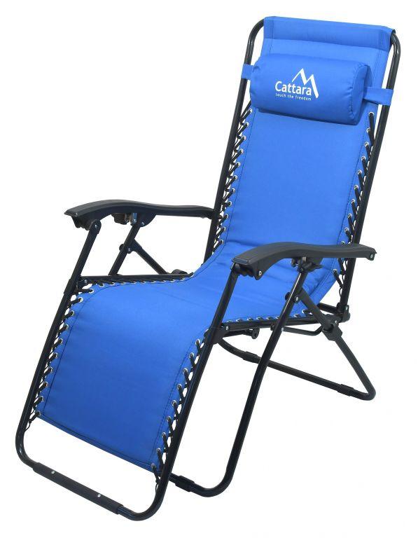 Fotel kempingowy rozkładany LIVORNO - niebieski