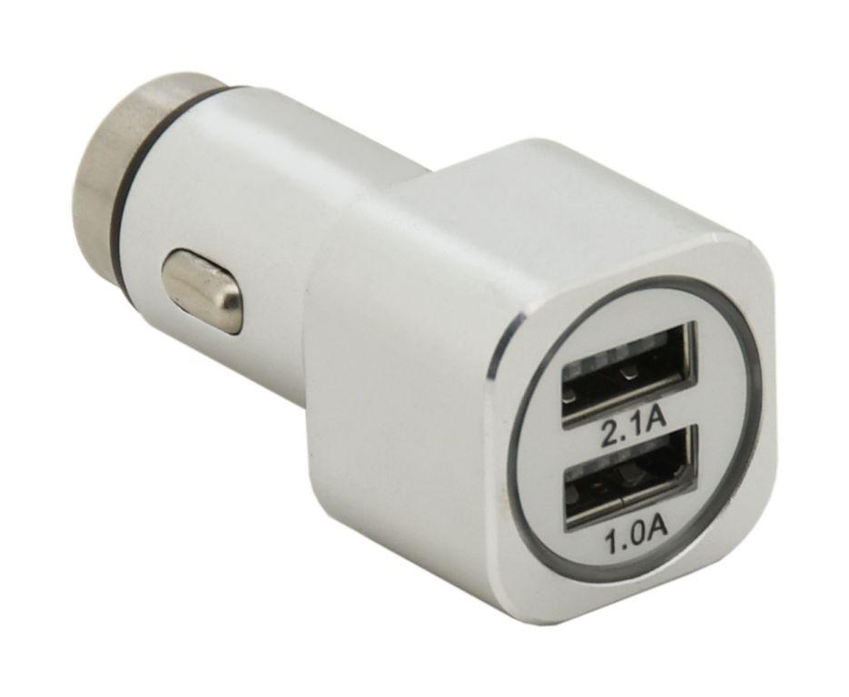 Metalowy adapter do ładowania - 2 x USB