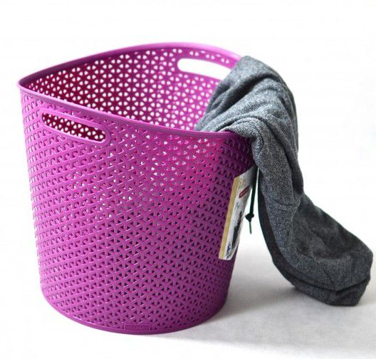 Kosz na pranie MY STYLE 30L - fioletowy