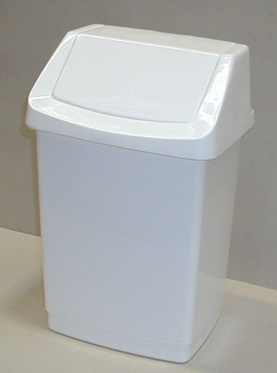Kosz na śmieci 15l CLICK - biały CURVER