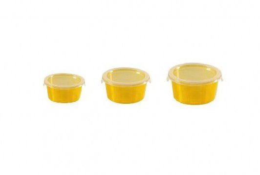 Zestaw 3 pojemników DECO CHEF - pomarańczowa CURVER