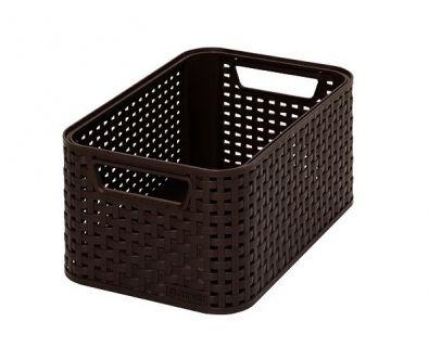 Plastikowe pudełko do przechowywania STYLE BOX - S- brązowy