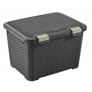 Plastikowe pudełko do przechowywania STYLE BOX - 43L - brązo