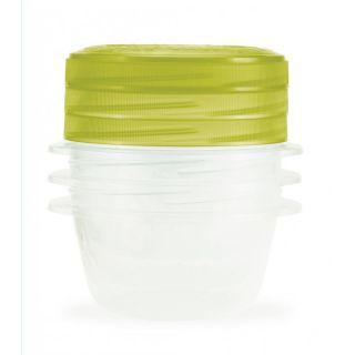Zestaw 3 plastikowych pojemników TAKE AWAY TWIST 0,5l zielon