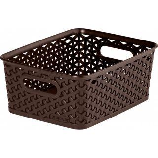 Koszyk Polyratan STYLE BOX S - ciemny brązowa CURVER