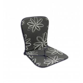Poduszka na krzesło SAMOA - szare z kwiatami 30200-700
