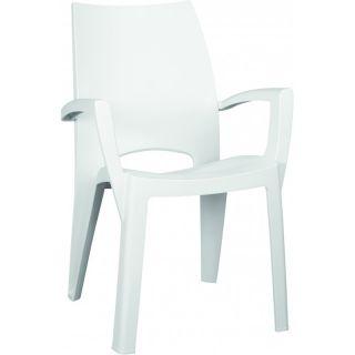 Plastikowe krzesło SPRING - biały