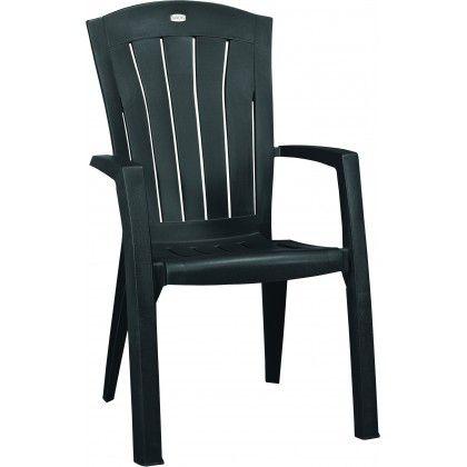 Krzesło z tworzywa sztucznego SANTORINI - w kolorze grafit