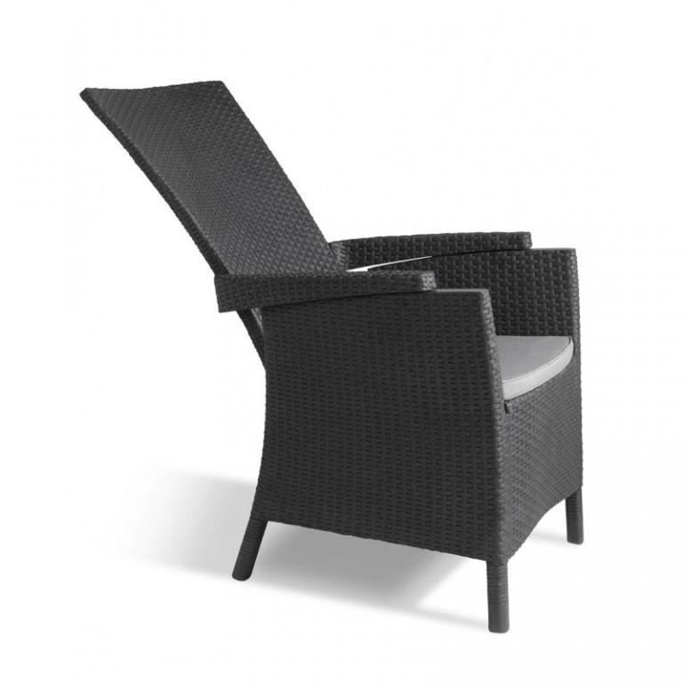 Luksusowe plastikowe krzesło VERMONT - grafit