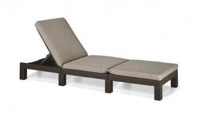 Elegancki leżak DAYTONA brązowy