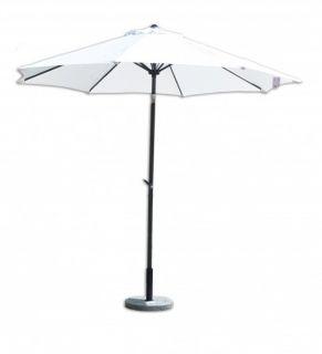 Parasol ogrodowy przeciwsłoneczny ø 270 cm biały