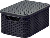 Pudełko z pokrywką - S - ciemnobrązowa CURVER