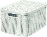 Pudełko z pokrywką - L - kremowa CURVER