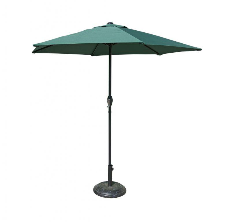 Parasol 230 cm - ciemnozielony