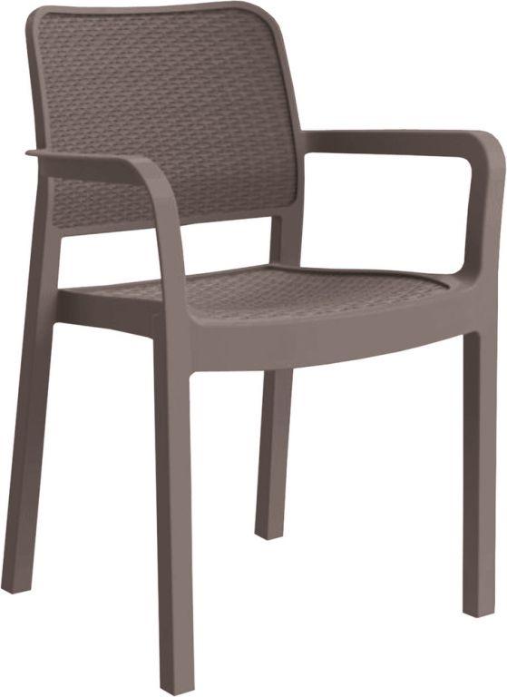 Fotele ogrodowe plastikowe SAMANNA - cappuchino