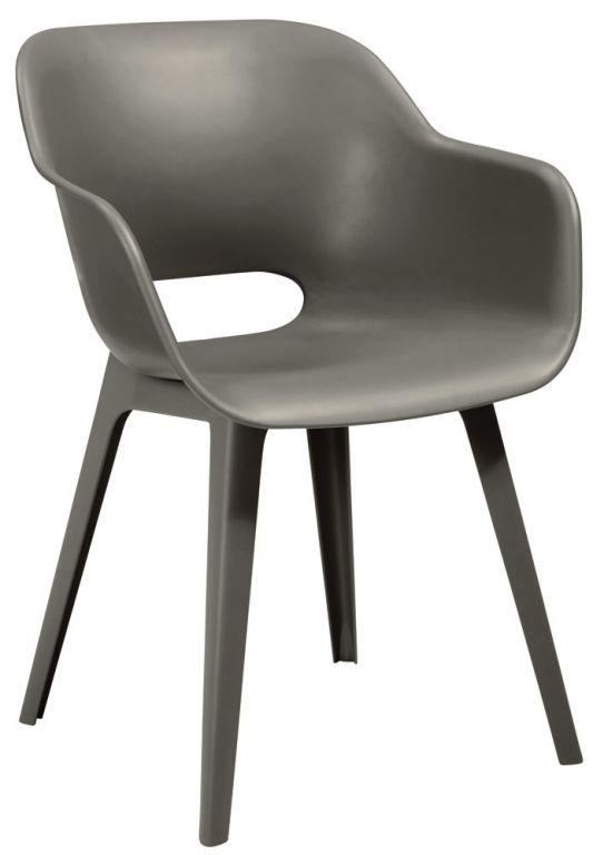 Luksusowe krzesło ogrodowe AKOLA - cappucino