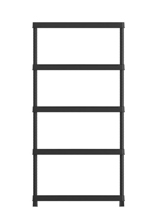 Półka otwarta z tworzywa szt.PLUS 80/5 - 187 x 80 x 40 cm