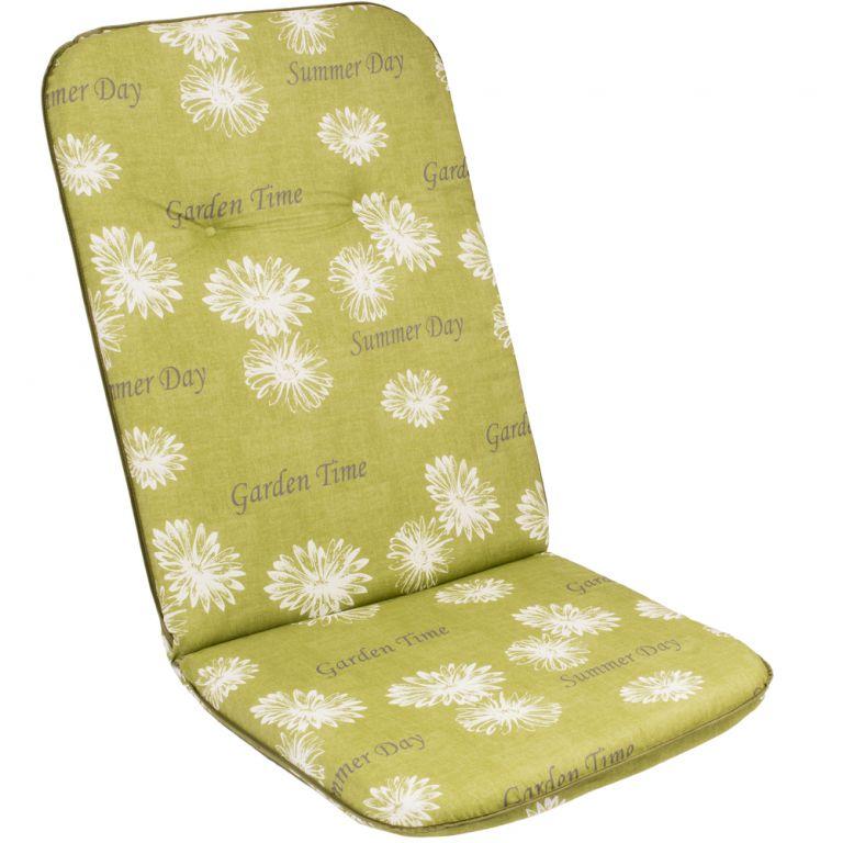Poduszka na wysokie krzesło SCALA HOCH zielony kwiat 30368-211