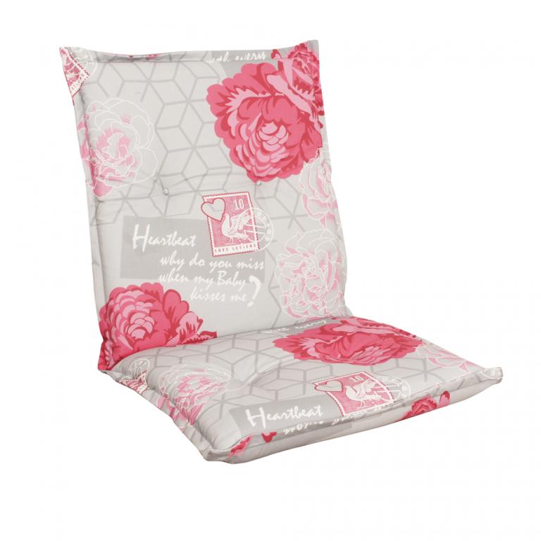 Poduszka na fotel NAXOS NIEDRIG - kwiaty 30367-340