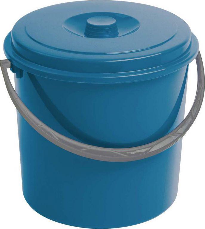 Wiadro z pokrywką CURVER 10L - niebieskie