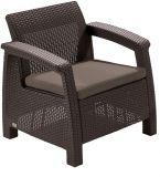 Krzesło ogrodowe CORFU - kolor brązowy