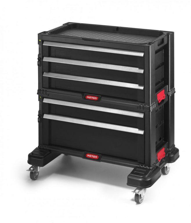 Skrzynka narzędziowa KETER - 5 szuflad - czarna