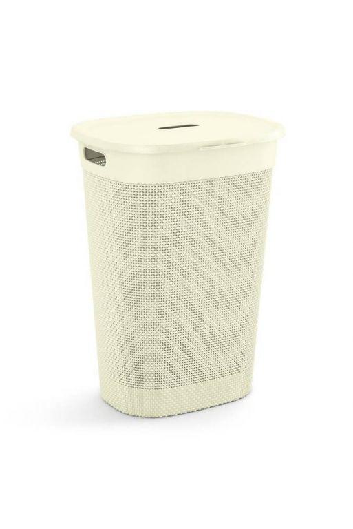 Plastikowy kosz na bieliznę FILO - krem