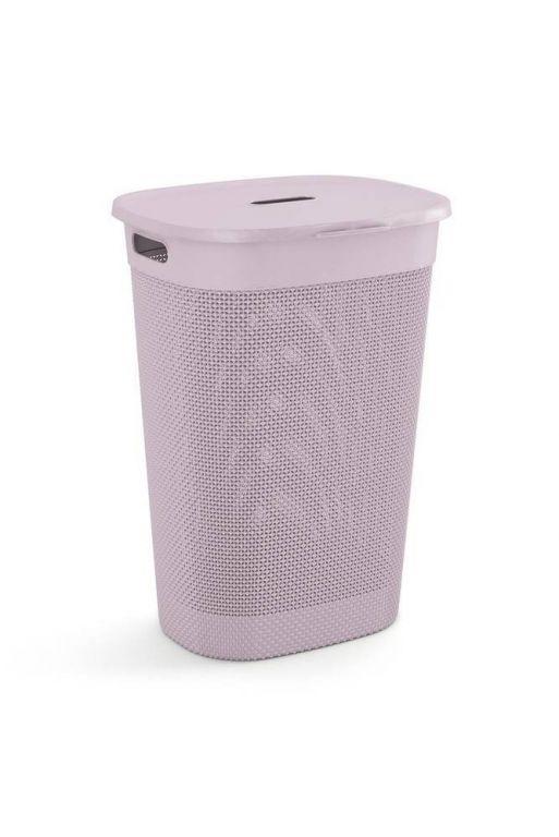 Plastikowy kosz na bieliznę FILO - różowy