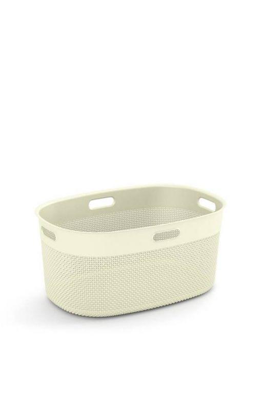 Plastikowy kosz na bieliznę FILO do czystej bielizny - krem