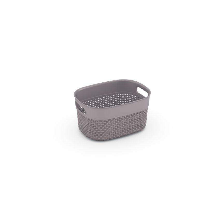 Kosz plastikowy FILO XS - brązowo-szary
