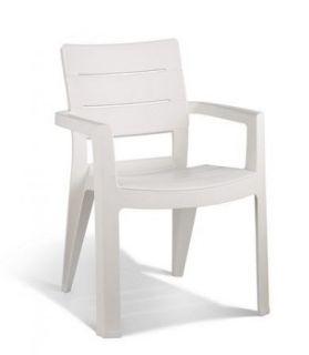 Krzesło plastikowe ogrodowe IBIZA białe