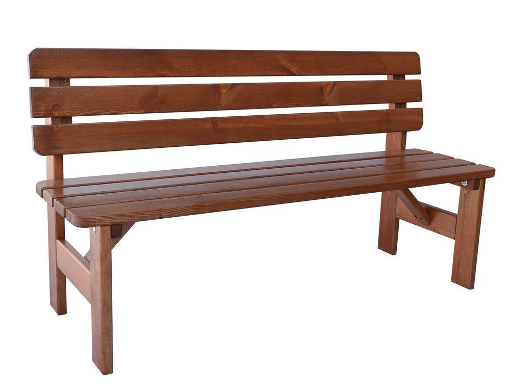 Drewniana ławka ogrodowa Viking - 150 cm, lakierowana