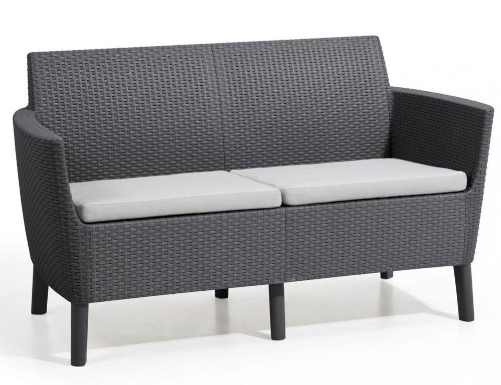 Podwójna sofa SALEMO - grafit